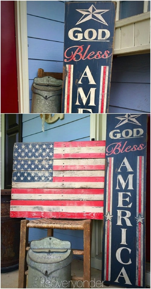 4th Of July Wood Signs
