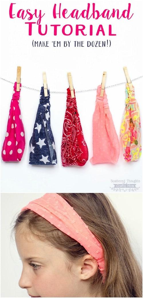 Simple DIY Elastic Headbands