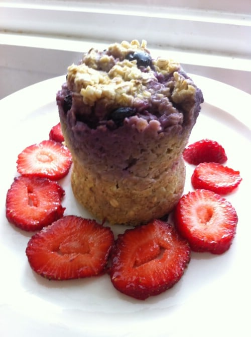 Oatmeal And Blueberry Microwave Muffin