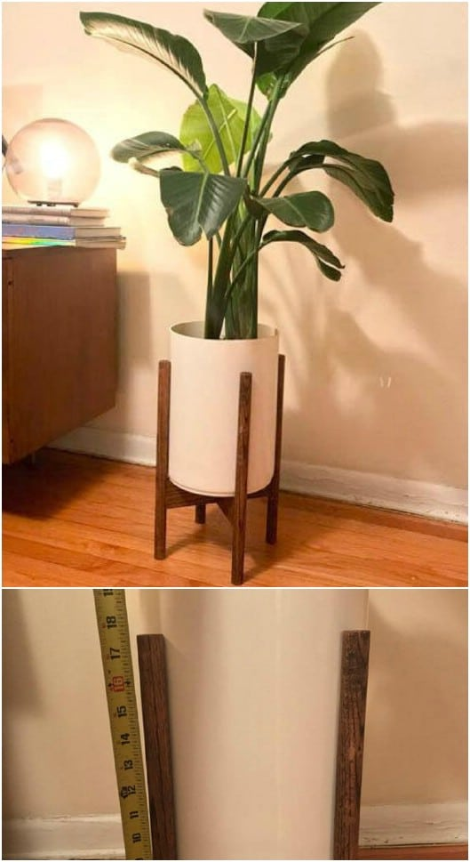 Contemporary Cylinder Pot Planter Stand
