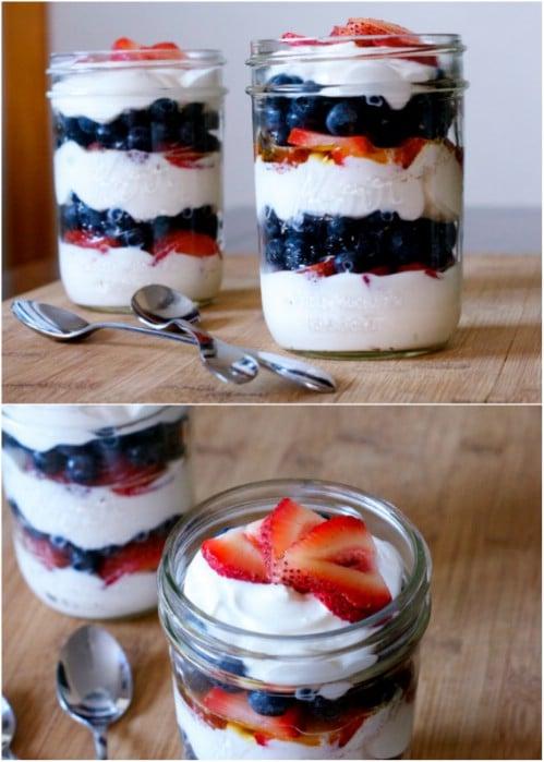 Easy Double Berry Breakfast Parfait