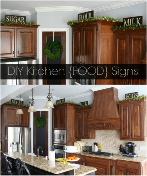 Marvelous Rustic Wooden Kitchen Food Signs