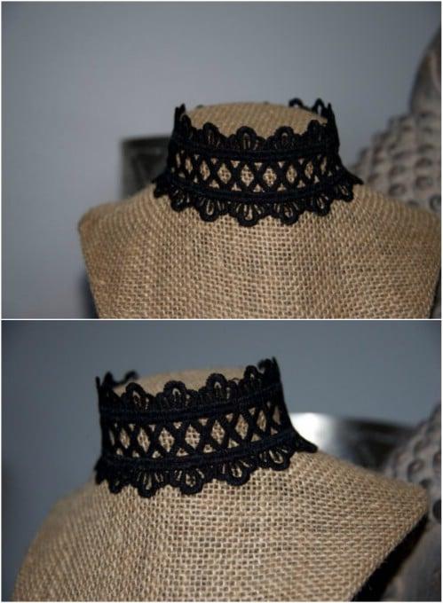 Bohemian Style Crocheted Lace Choker