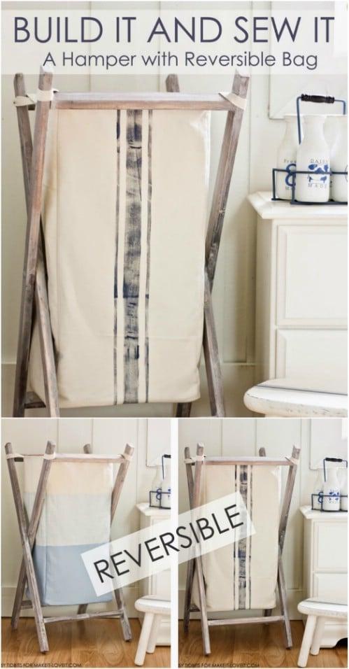 Simple DIY Foldable Wooden Hamper