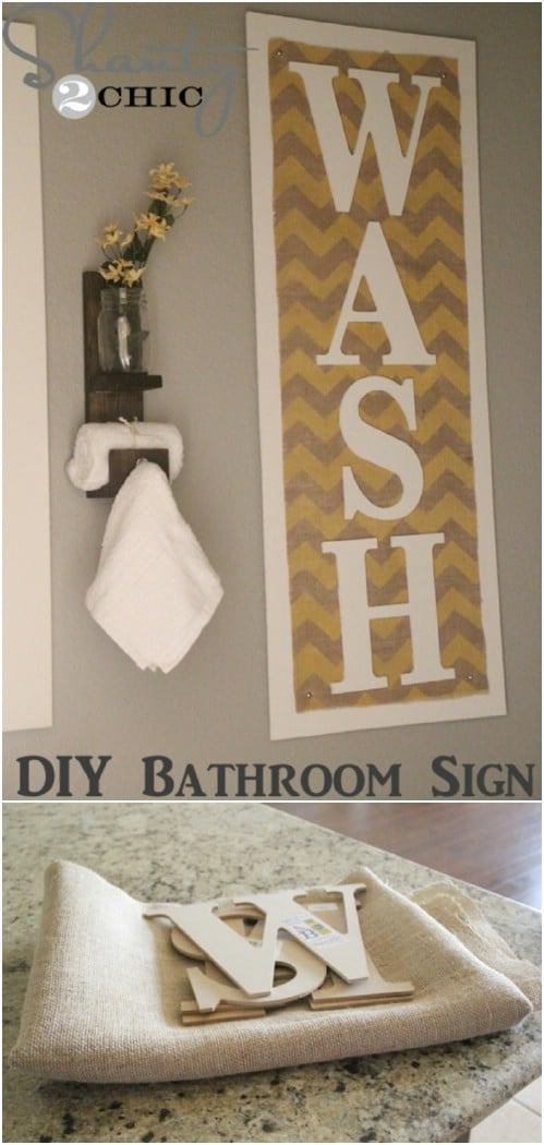 Vintage Bathroom Decor Signs