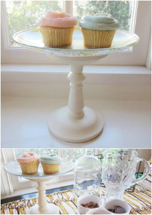 Gorgeous $3 DIY Cake Stand