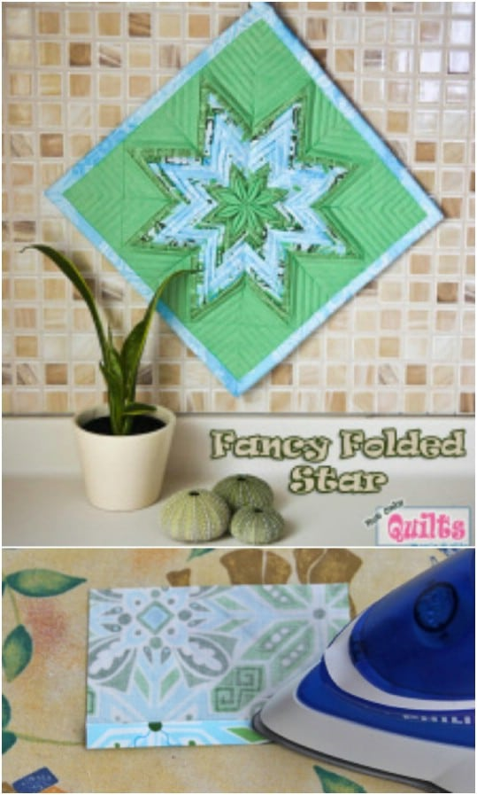 Handmade Fancy Folder Star Pot Holder