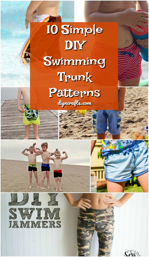 10 Simple Diy Swimming Trunk Patterns For All Of The Boys In Your