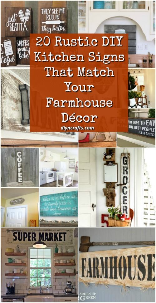 20 Rustic Diy Kitchen Signs That Match Your Farmhouse Decor Diy