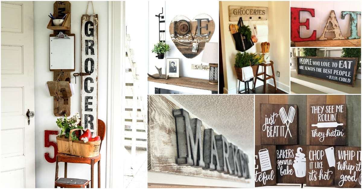20 Rustic Diy Kitchen Signs That Match Your Farmhouse