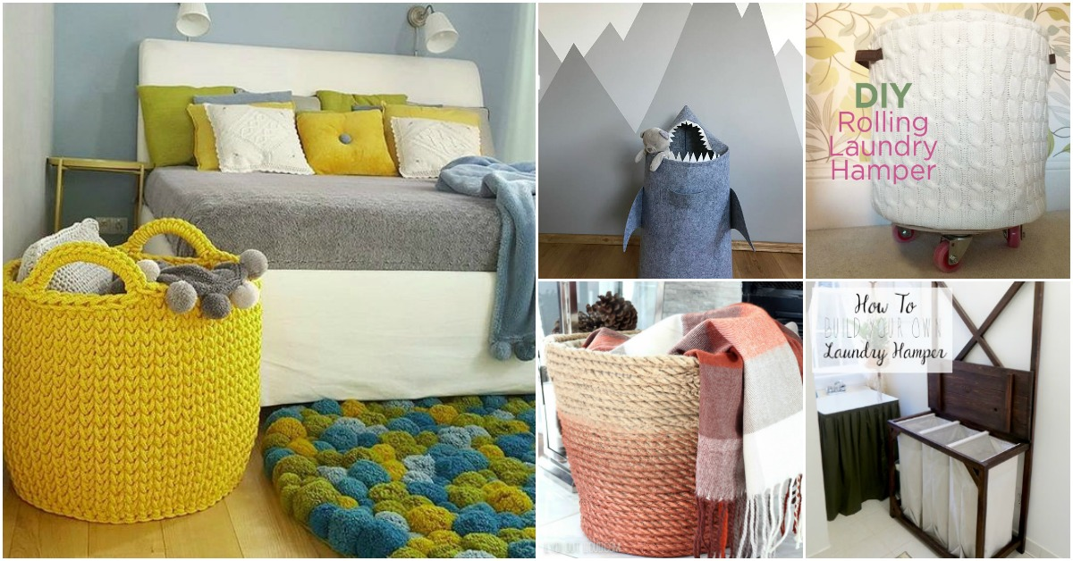 13 Diy Laundry Baskets And Hampers That Make Organizing