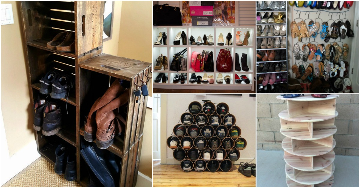 20 Outrageously Simple DIY Shoe Racks And Organizers You ...
