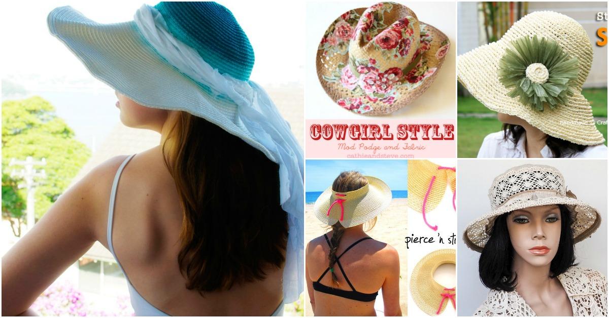 10 Fun DIY Summer Hats That Will Keep You Cool And Fashionable - DIY    Crafts cda039c8285
