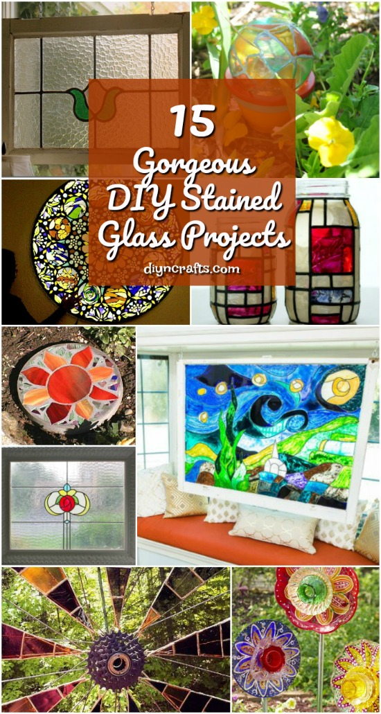 15 gorgeous diy stained glass projects that will beautifully decorate your outdoors - How To Make Stained Glass Windows