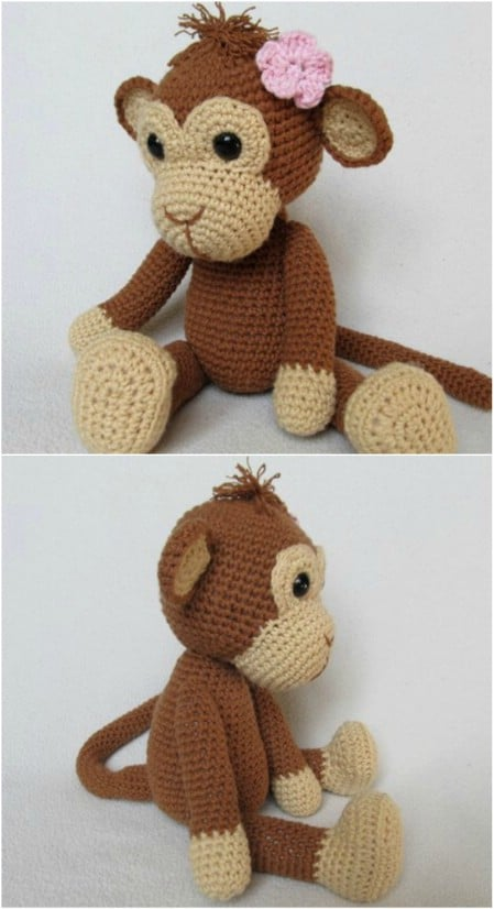 Simple Crochet Amigurumi Monkey