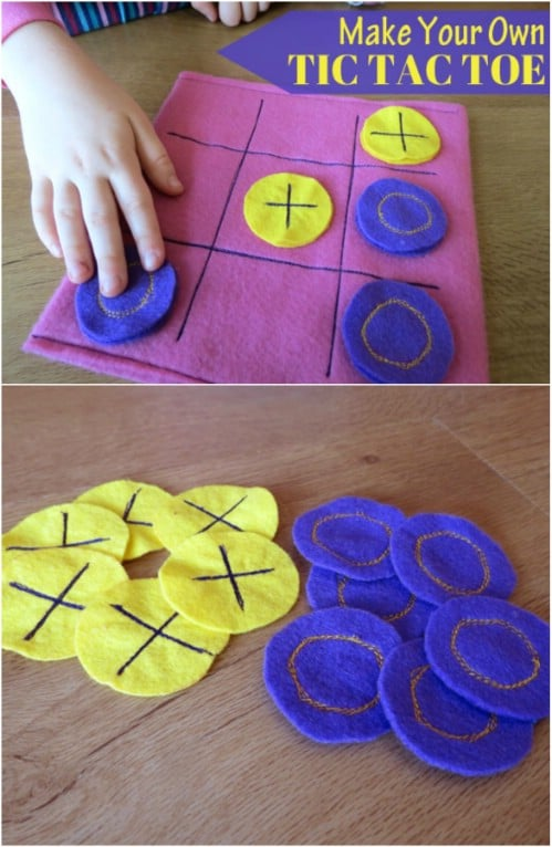 Homemade Felt Tic Tac Toe Game