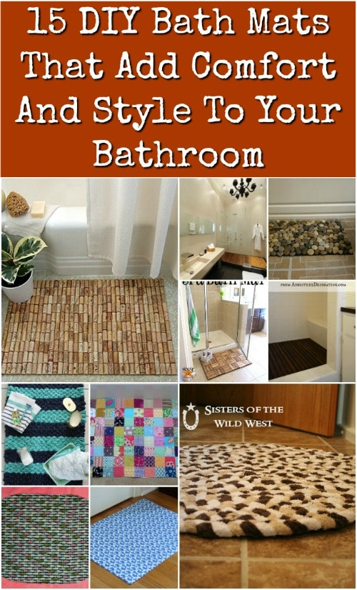 15 DIY Bath Mats That Add Comfort And Style To Your Bathroom