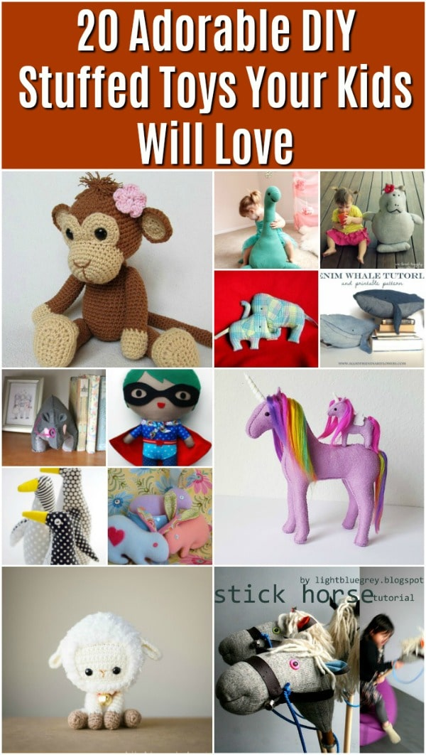 20 Adorable DIY Stuffed Toys Your Kids Will Love