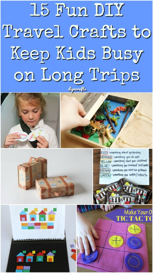 15 Fun DIY Travel Crafts to Keep Kids Busy on Long Trips