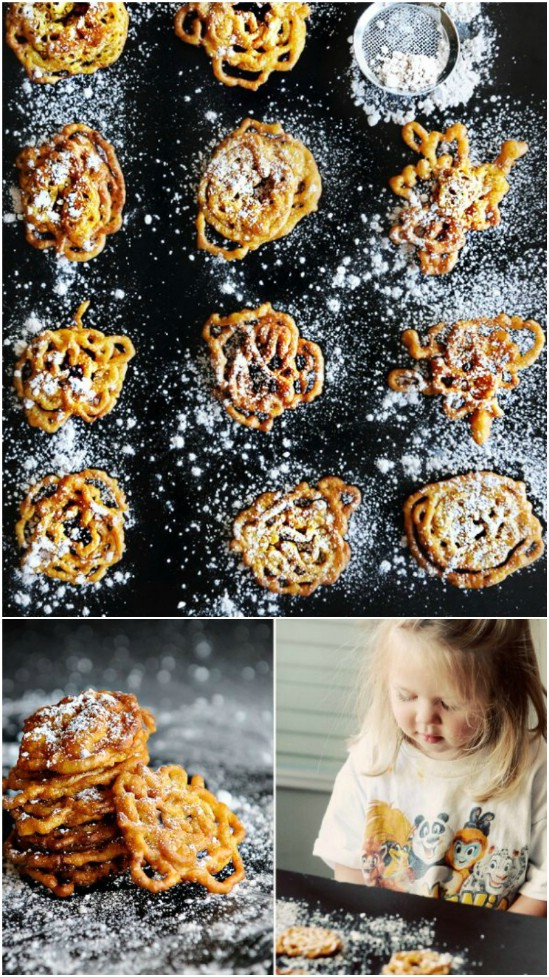 Bite Sized Pumpkin Funnel Cakes