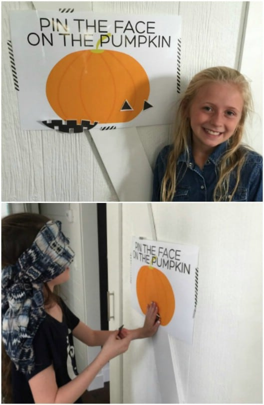 Pin The Face On The Pumpkin