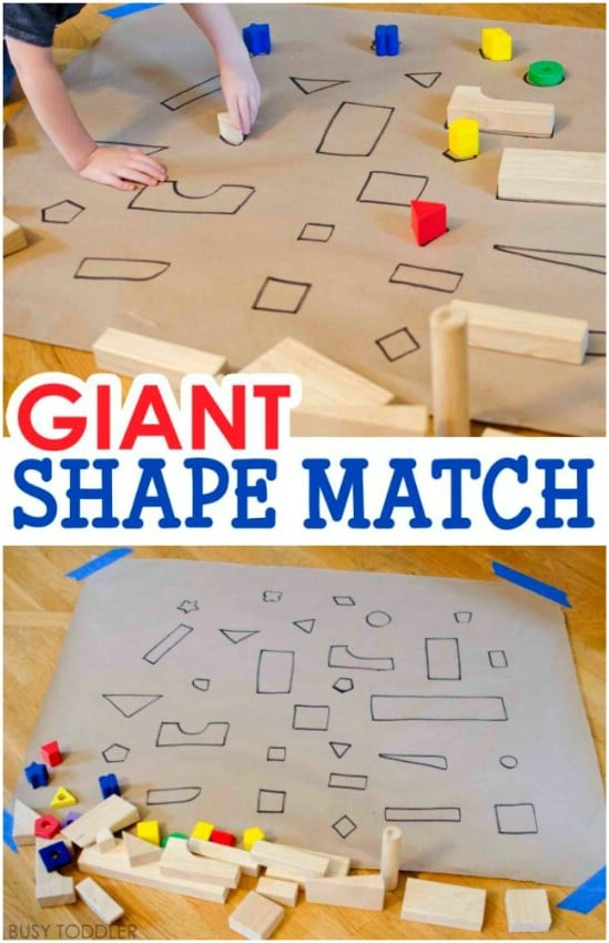 Giant DIY Shape Sorting Puzzle