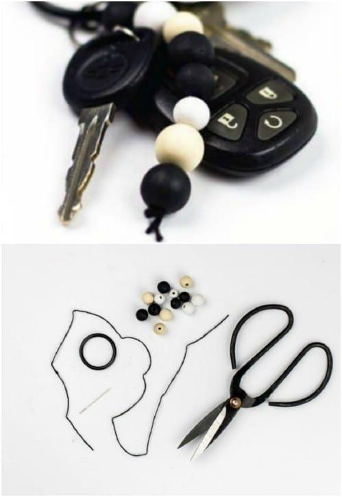Super Simple DIY Bead Keychain