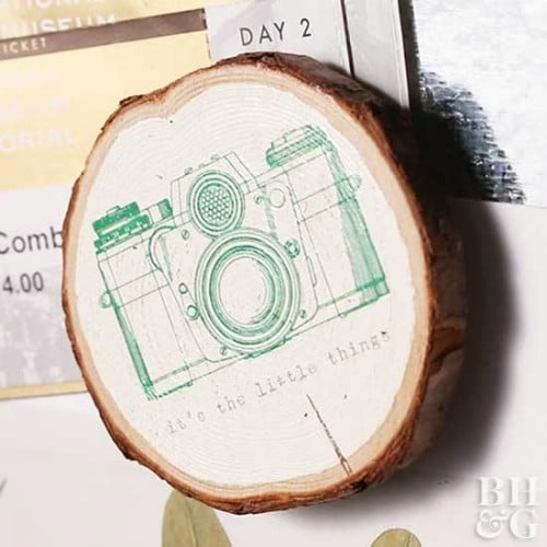 DIY Wood Slice Magnets
