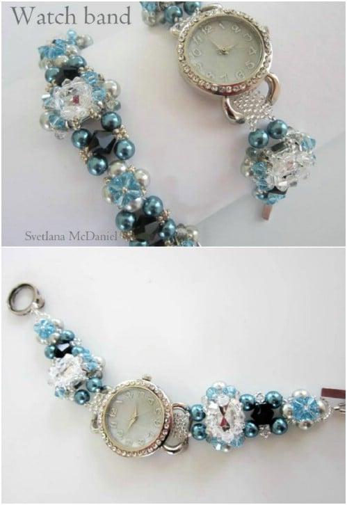 Fashionable DIY Beaded Watch