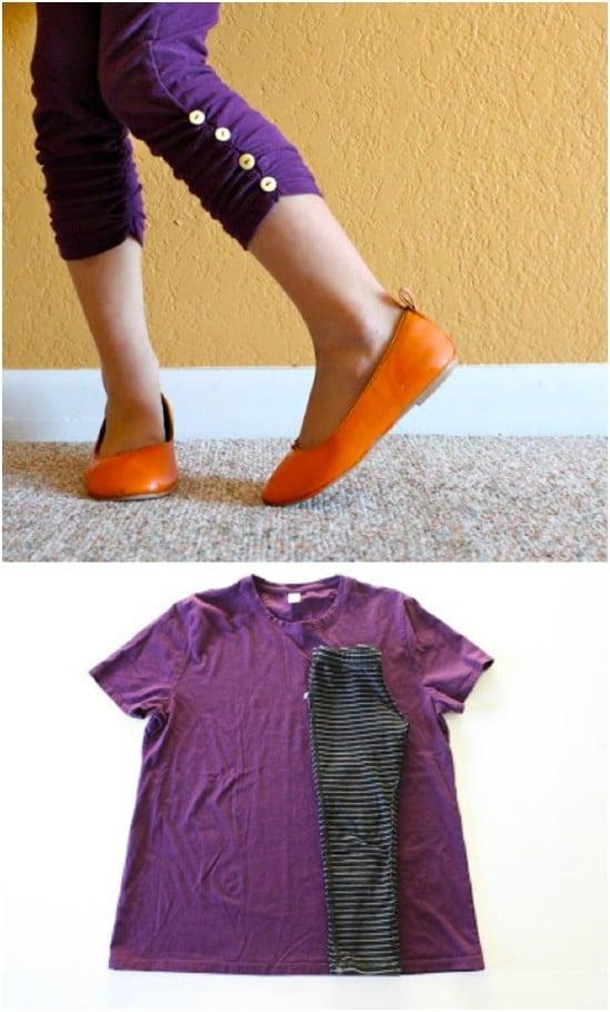 DIY Ruched Workout Leggings