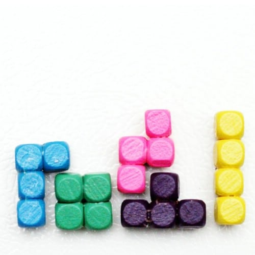 Whimsical DIY Tetris Refrigerator Magnets
