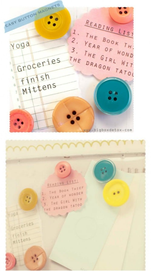 DIY Button Refrigerator Magnets