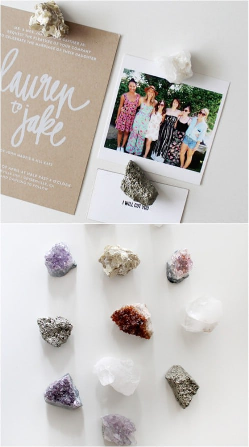 DIY Raw Crystal Kitchen Magnets