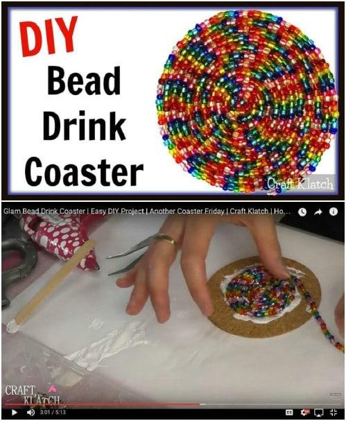 DIY Beaded Coasters