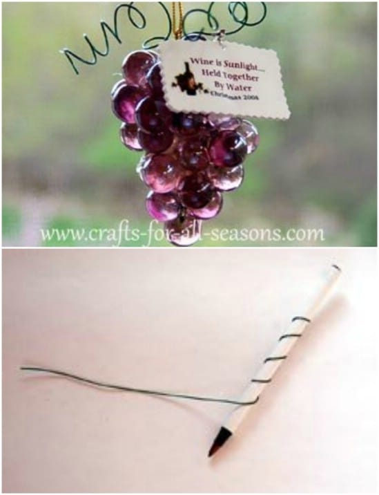 Gorgeous DIY Grape Cluster Ornaments