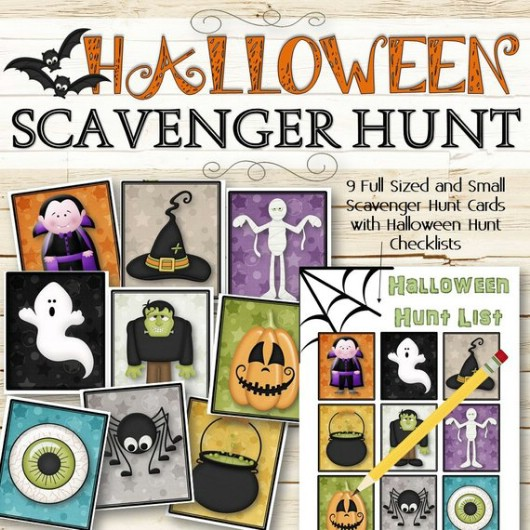 Super Fun Halloween Scavenger Hunt Game