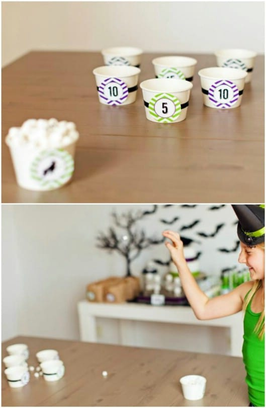 DIY Marshmallow Toss Game