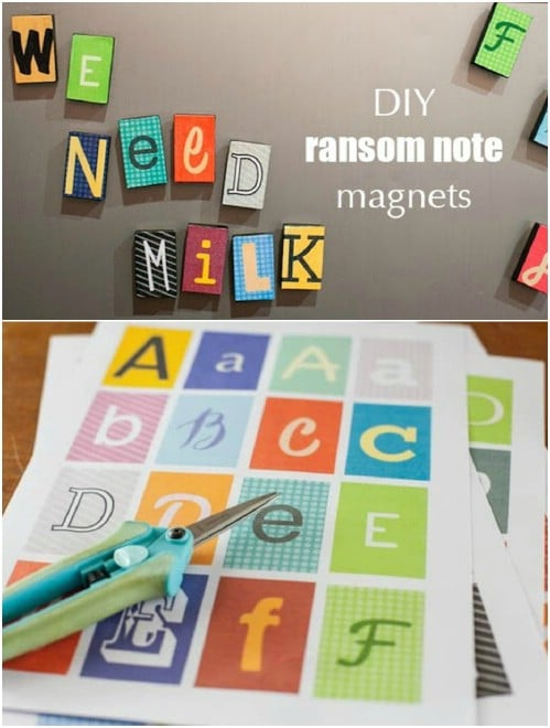 DIY Ransom Note Magnets