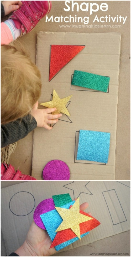 Easy DIY Shape Puzzle For Toddlers And Babies