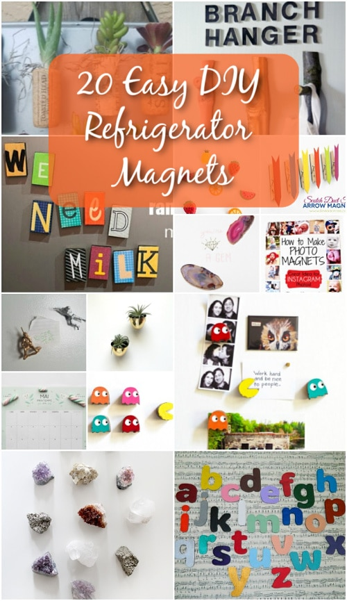20 Easy DIY Refrigerator Magnets To Decorate Your Kitchen With Fun - Did you just love refrigerator magnets when you were growing up? I mean, everyone had them back in the day. From those adorable little fruits to the ABCs that kids could learn to spell with, everywhere you went you saw kitchen magnets. #diy #magnets #fridgemagnets #kitchenprojects #handmade #creativeideas #ideas #fridgedecor #decor