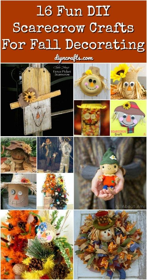 16 Fun Diy Scarecrow Crafts For Fall Decorating Diy Crafts