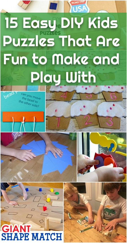 15 Easy DIY Kids Puzzles That Are As Fun To Make As They Are To Play With