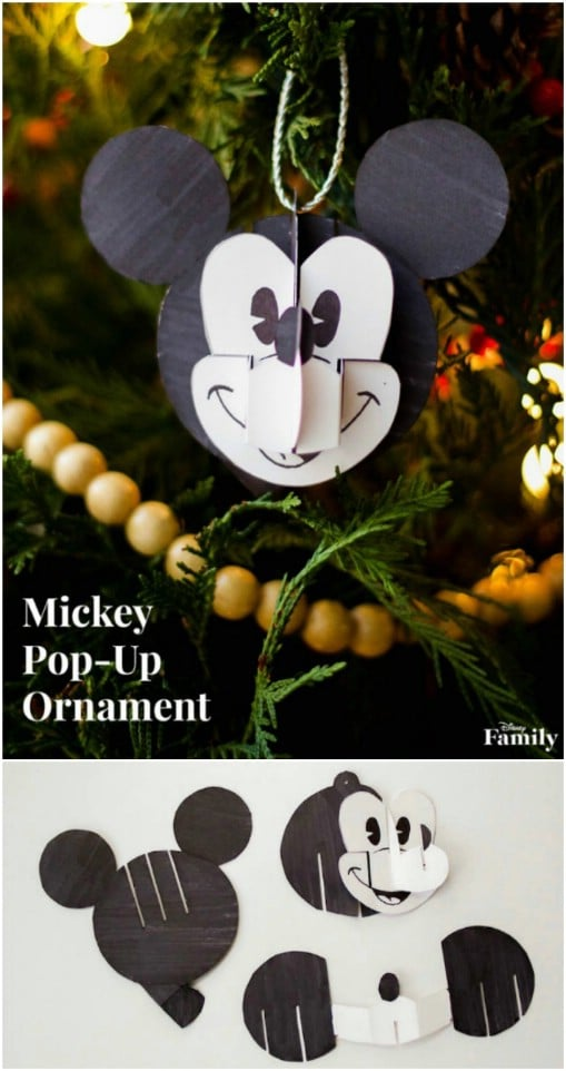 DIY Mickey Mouse Pop Up Ornament