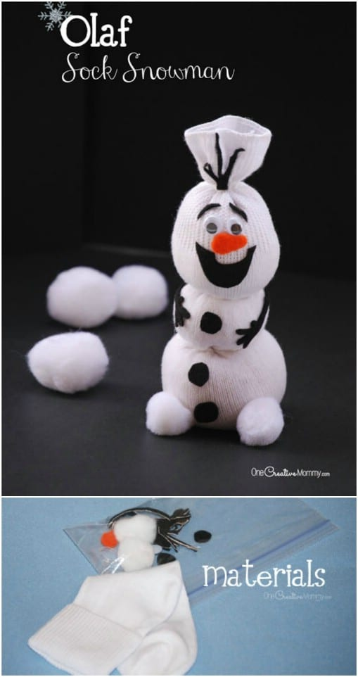 Cute DIY Sock Snowman