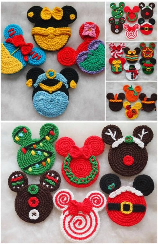 DIY Crochet Disney Ornaments