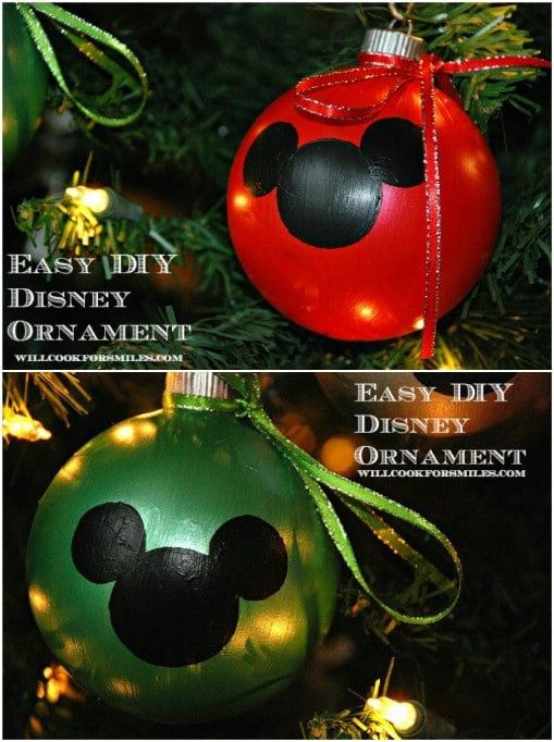 Easy Hand Painted Disney Ornaments