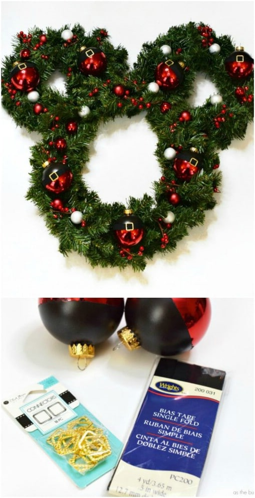 DIY Disney Christmas Wreath