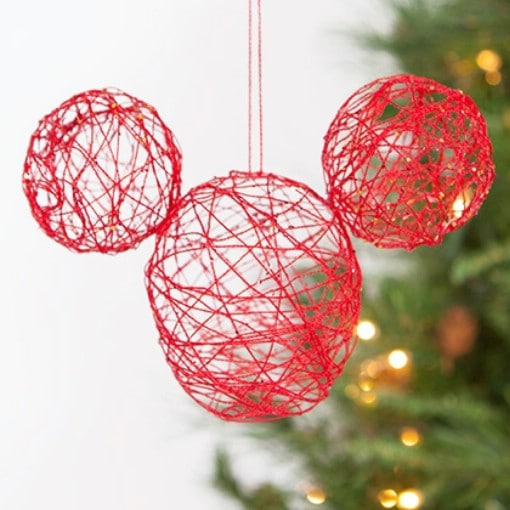 DIY Mickey Mouse String Ornament