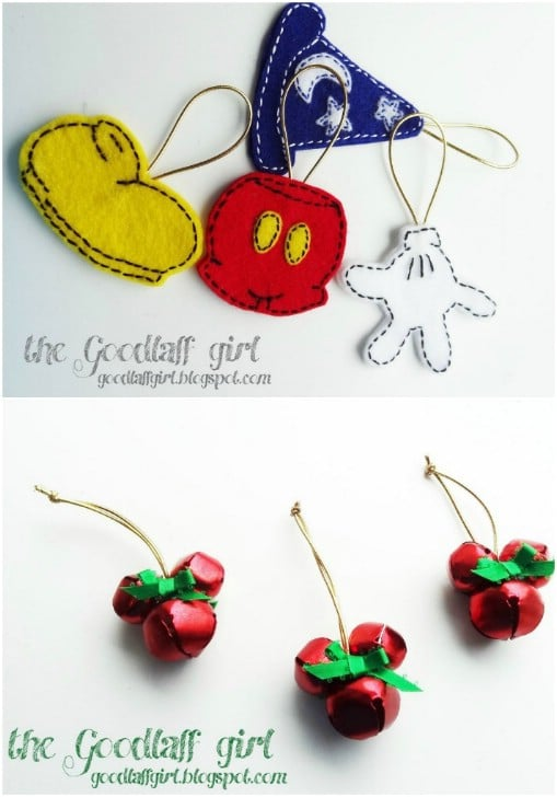 Cute DIY Mickey Mouse Jingle Bells