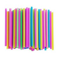 ALINK Assorted Bright Colors Jumbo Smoothie Straws, Pack of 100 Pieces